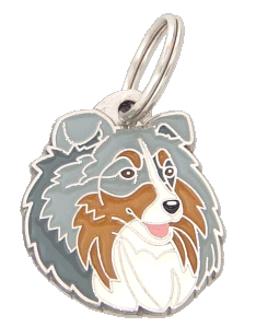 SHETLAND SHEEPDOG BLUE MERLE - pet ID tag, dog ID tags, pet tags, personalized pet tags MjavHov - engraved pet tags online